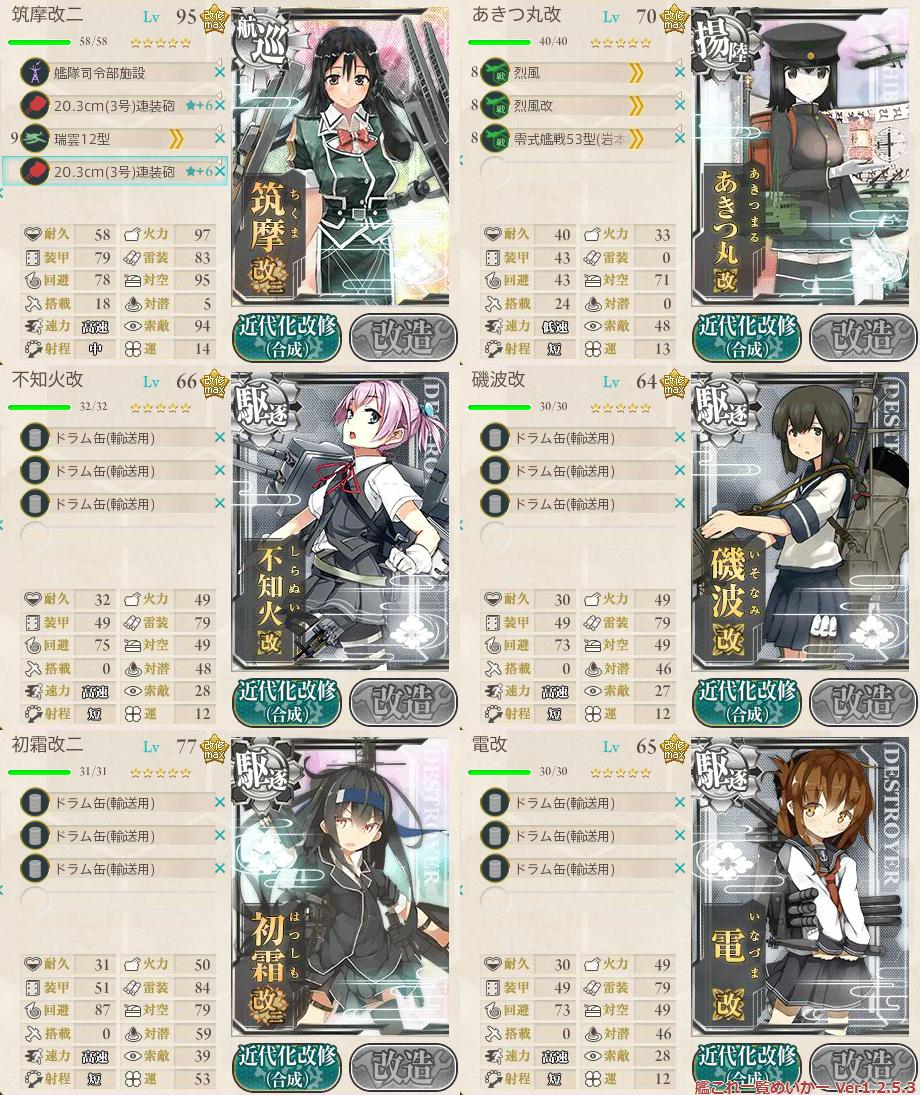 艦これ2015秋イベントE3_1-1