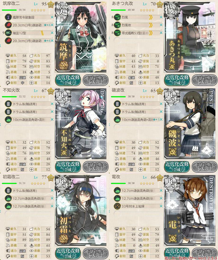 艦これ2015秋イベントE3_2-1