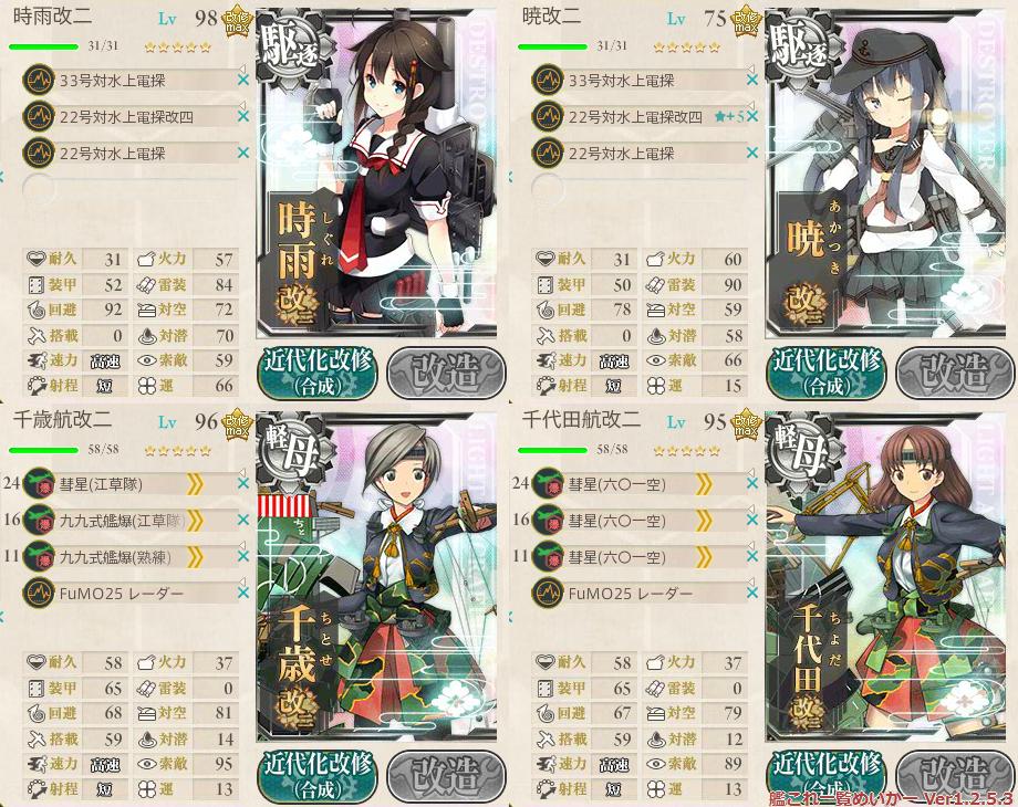 艦これ2015秋イベントE4甲掘り_道中支援